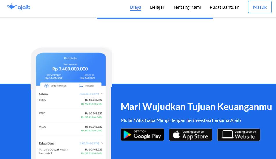 Aplikasi trading saham dari Ajaib