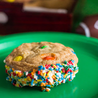 M&M Cookie Ice Cream Sandwich