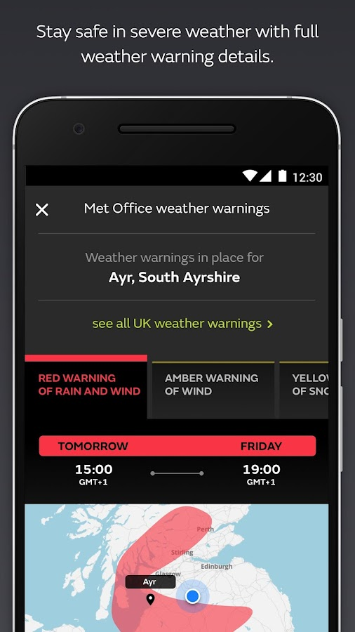 Met Office Weather Forecast- screenshot