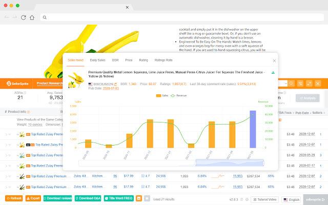 SellerSprite - Amazon Product & Keyword Tools