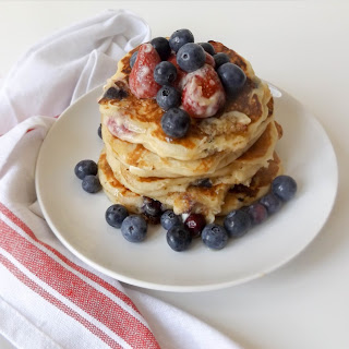 Red, White, & Blueberry Pancakes.