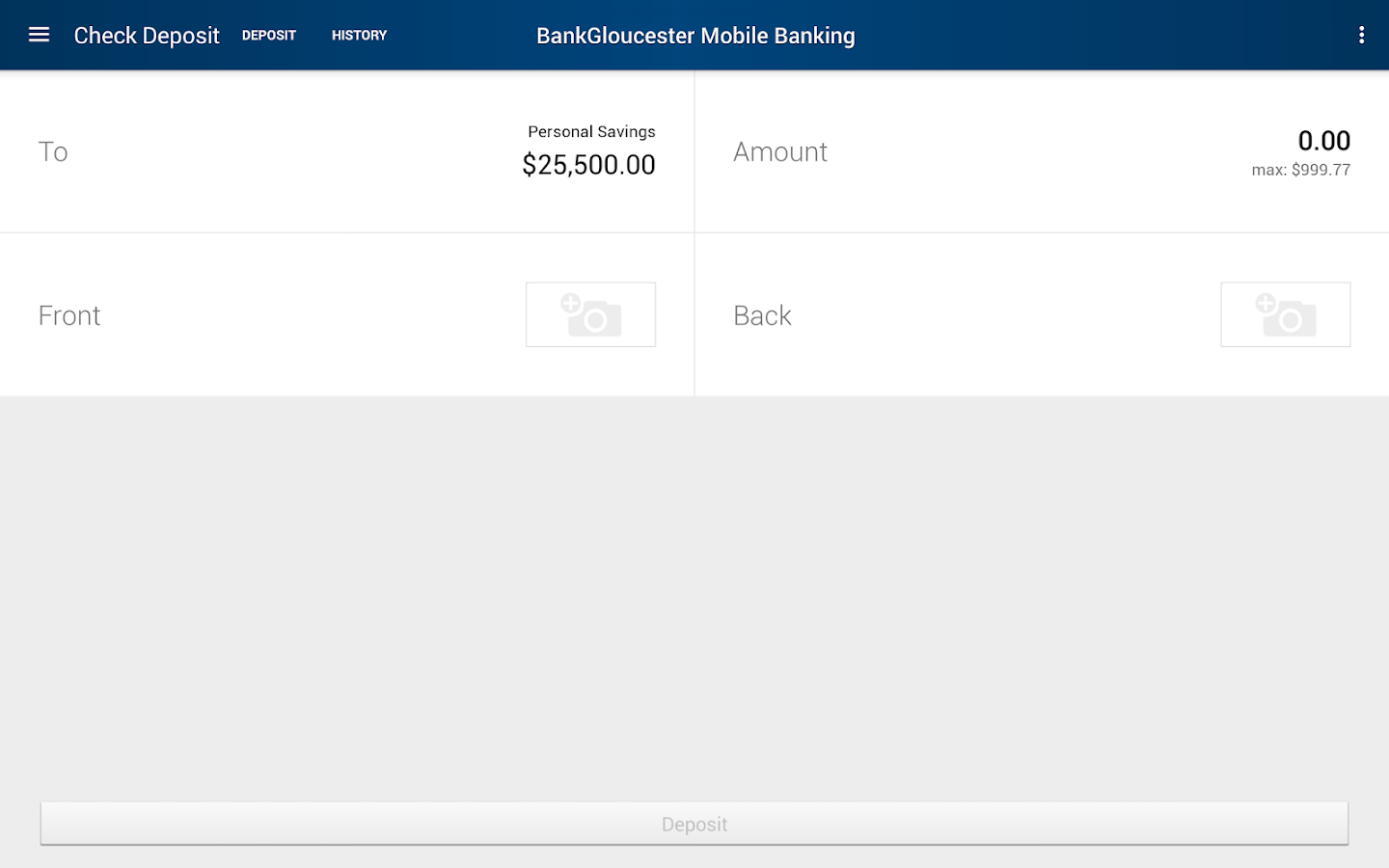 BankGloucester Mobile Banking- screenshot