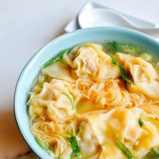 Cantonese Wonton Noodle Soup.