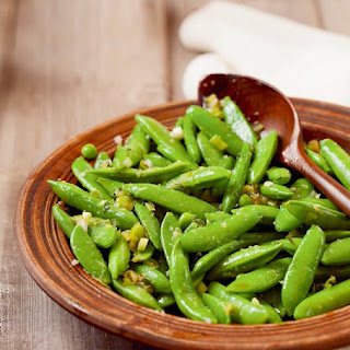 Sugar Snap Peas with Orange Ginger Dressing from Eat Clean Live Well