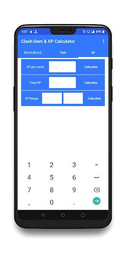 Clash Gem & XP Calculator 1.08 screenshots 3