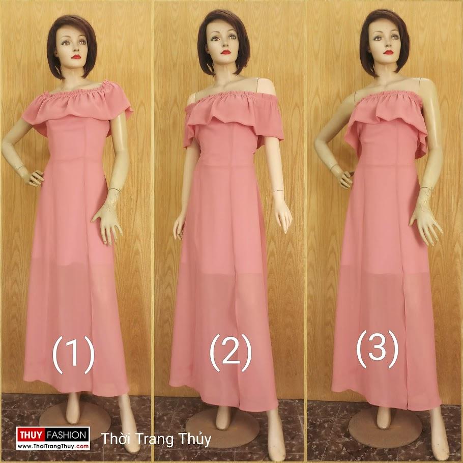 Váy maxi dáng dài mặc đi tiệc đi biển V686 thời trang thuỷ hà nội