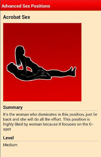 Advanced Sex positions