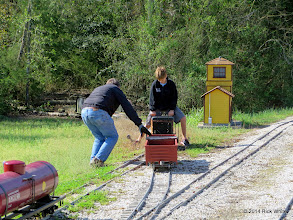 Photo: Mike and Case Alexander switching East Sumrall, fixing a derail.  HALS OPS Day 2014-0329 RPW
