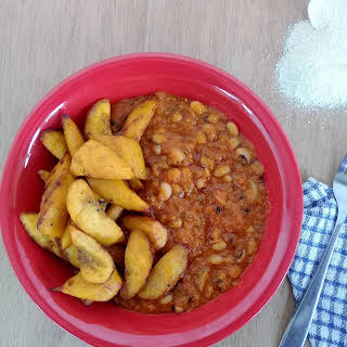 Red Red (fried Plantains With Beans Stew).