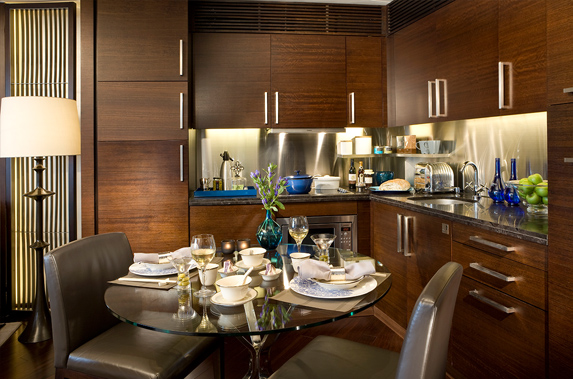 Kitchen at Splendid residences in CBD, Hong Kong