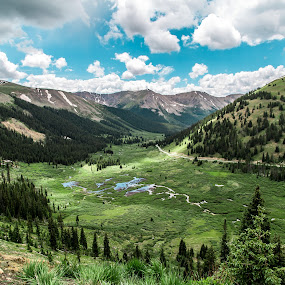 Independence Pass by Corey Gross - Landscapes Mountains & Hills ( independence pass, mountains, colorad, rocky mountains, river )