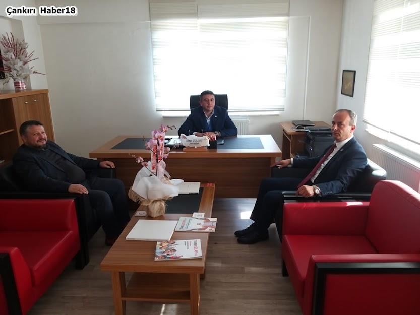 Türk Kızılayı Çankırı Şubesi Başkanı Ahmet ULUSOY,Çankırı İl Millî Eğitim Müdürü Muammer ÖZTÜRK