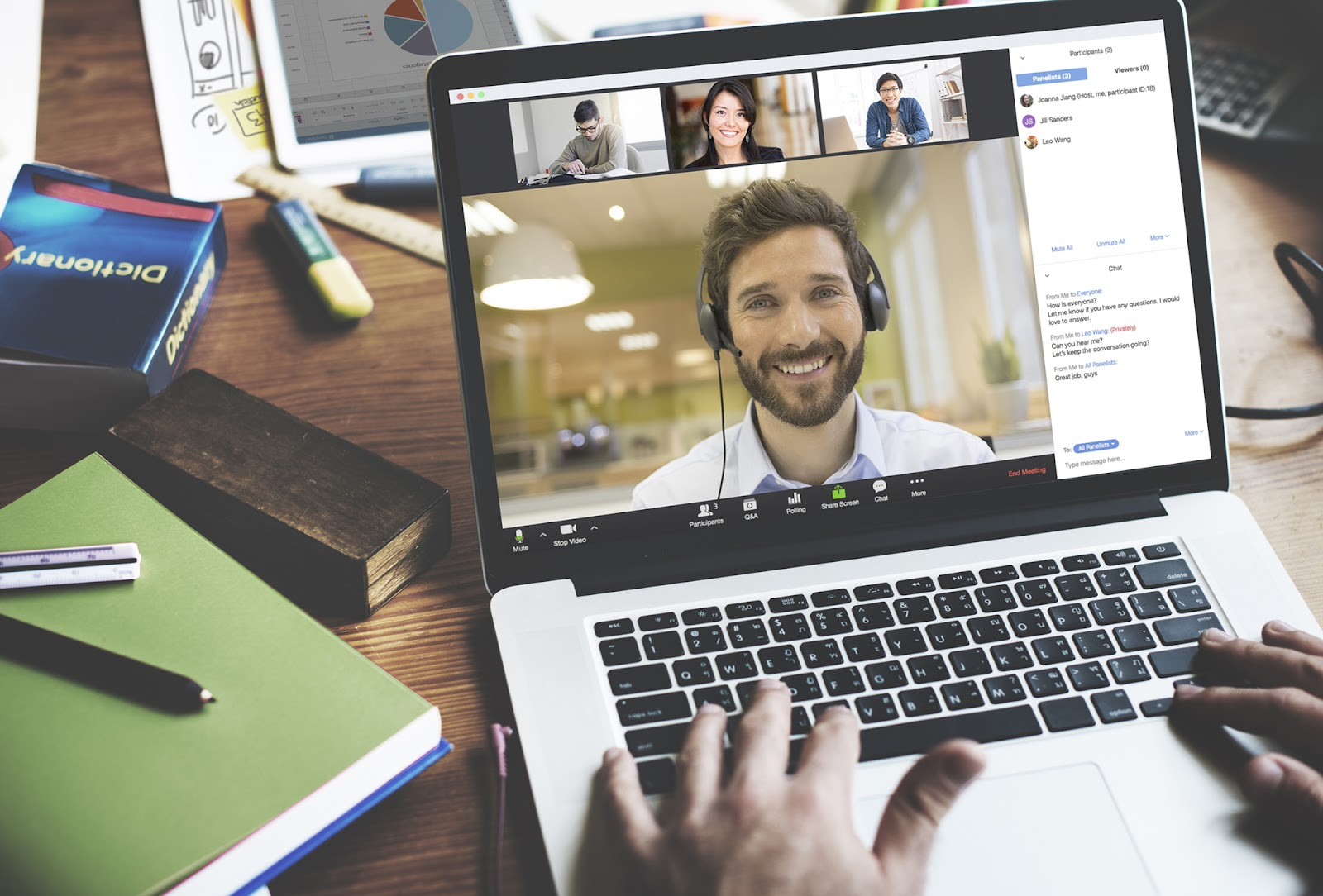 Illustratory image of Zoom showcasing its video conferencing tool