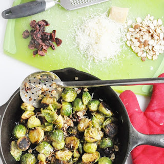 Cranberry Almond Roasted Brussels Sprouts (Gluten-Free, Healthy) Recipe