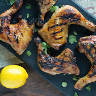 Grilled Chicken with Lemon and Harissa Mustard