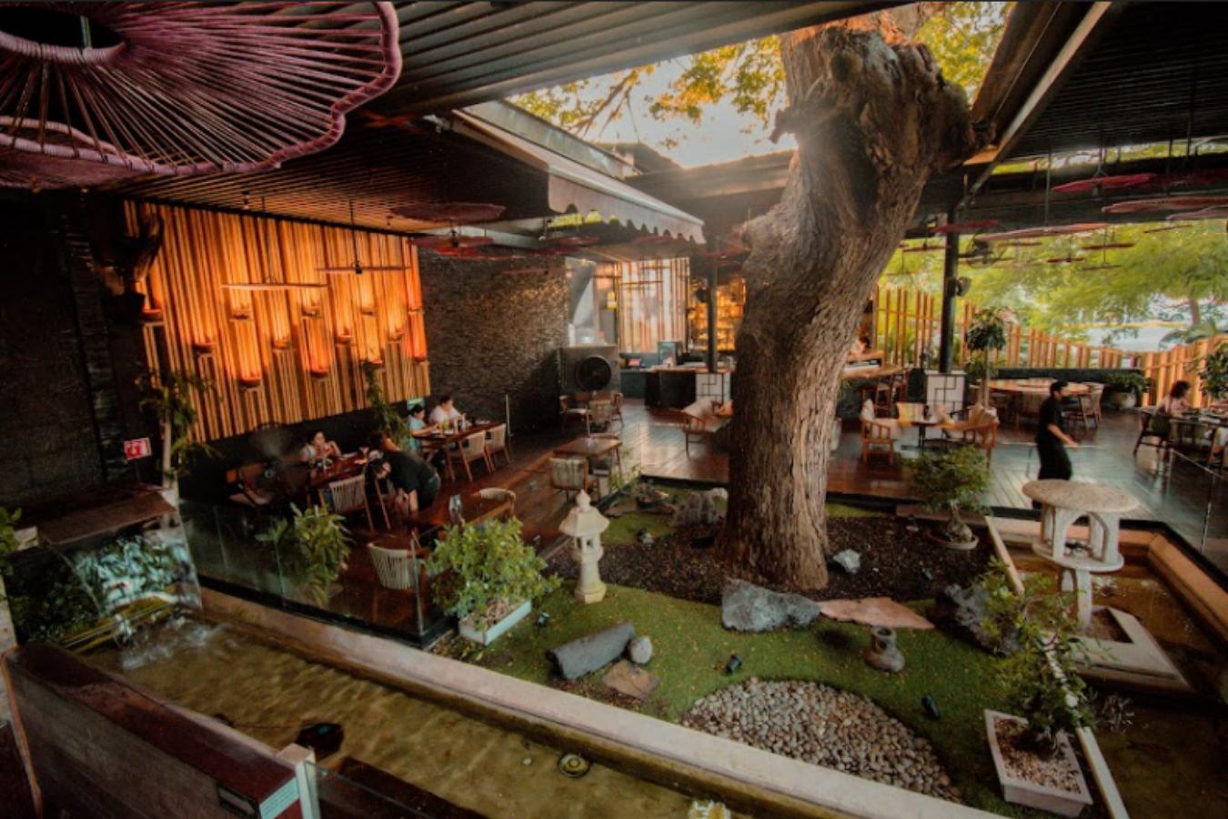 jardin japones en restaurante