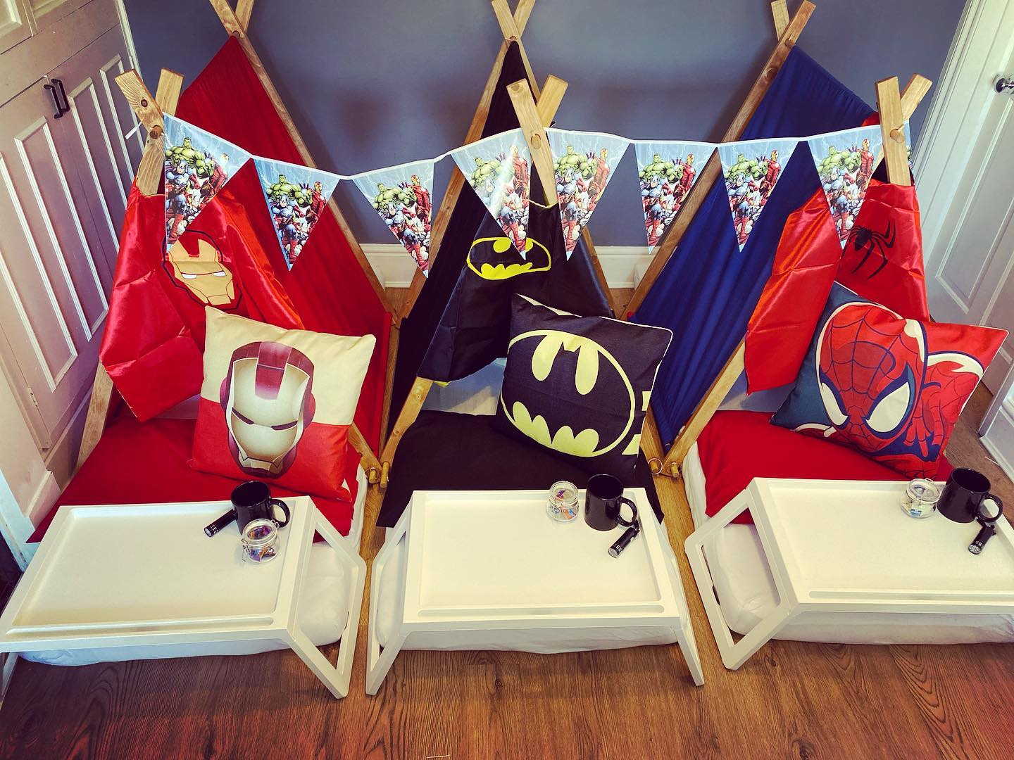 A boys superhero party from Mini Glampers Devon