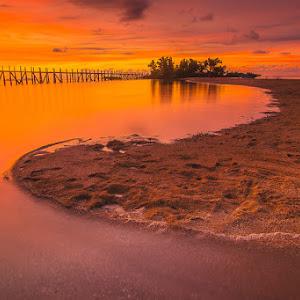 Sunset in the Bat Island.JPG