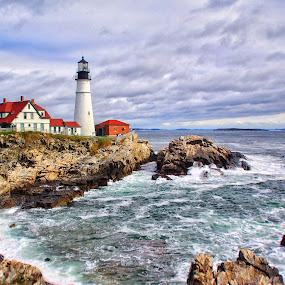 Portland Head Lighthouse  by Margie Troyer - Buildings & Architecture Public & Historical (  )