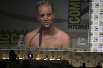 Photo: Friday - Big Bang Theory panel; star Kaley Cuoco