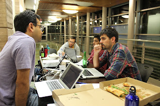 Photo: More pizza...more hacking...