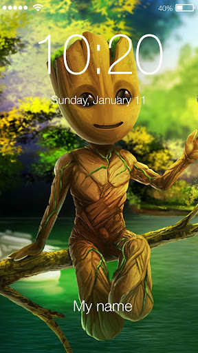 Download Baby Groot Wallpaper Art Lock Screen On Pc Mac
