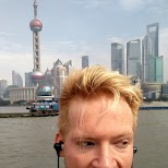 jogging on the Bund in Shanghai, Shanghai, China
