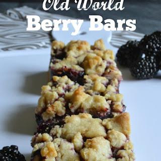 Old World Blackberry Bars