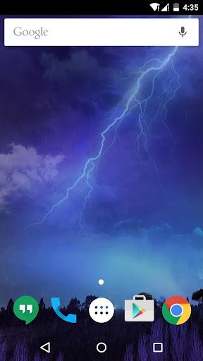 雷雨閃電動態桌布