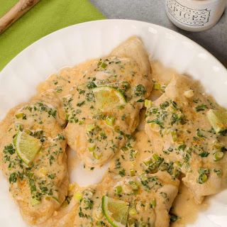 Chicken with Cilantro-Lime Cream Sauce