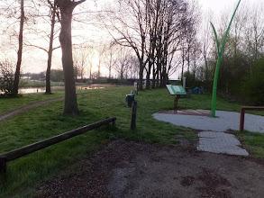 Photo: De Hoef. Overnachtingsplaats op picknickplaats Pondkoekersluis.