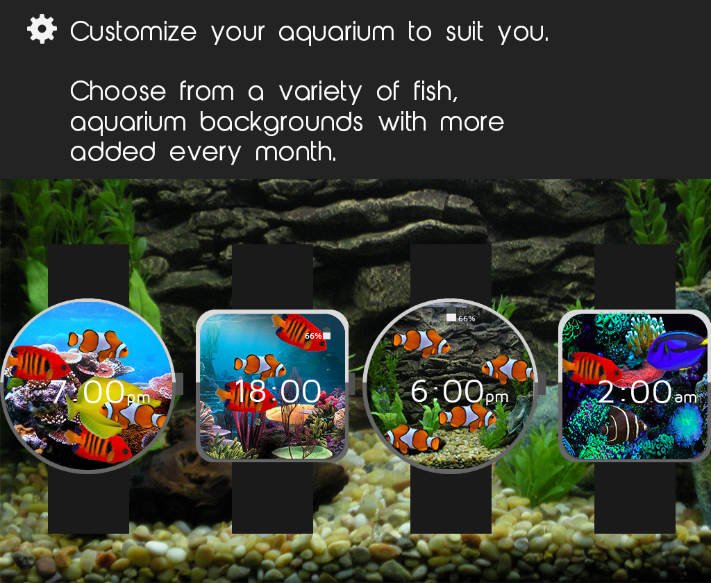 Aquarium Watch Face- screenshot