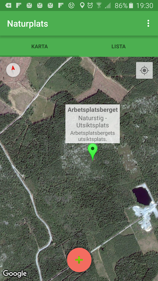 Naturplats- screenshot
