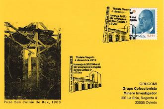 Photo: Matasellos de la XIII Exposición de Coleccionismo Minero de Grucomi en Tudela Veguin 2010