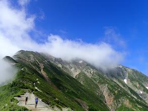 山頂は雲の中…