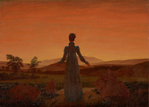 Woman in front of Setting Sun