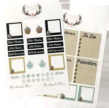 Handmade Titan Planner Stickers