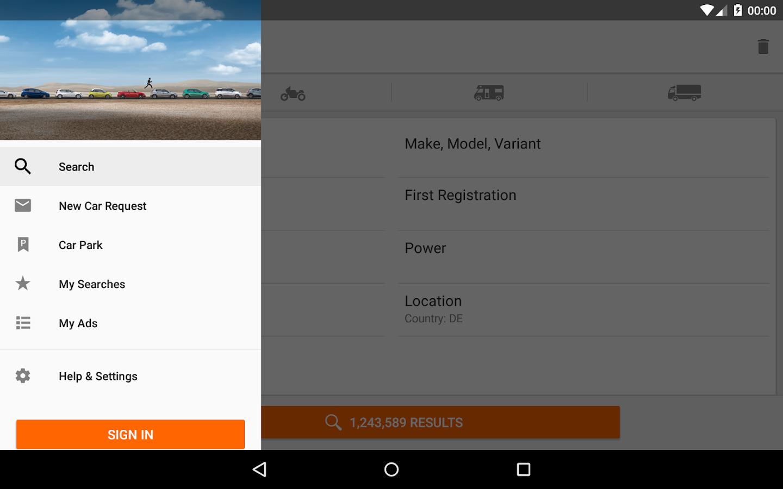 mobile.de – vehicle market- screenshot