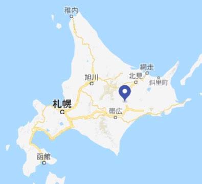 地図:足寄湖