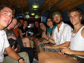 Photo: The whole Spicy Thai Hostel riding out to the night bazaar in a truck