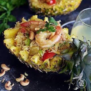 Khao Pad Sopparot AKA Thai Pineapple Fried Rice.