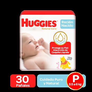 OFT Pañal Huggies   Natural Care Cotton Etapa 1 X30 Und