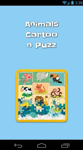 Animals Cartoon Puzz