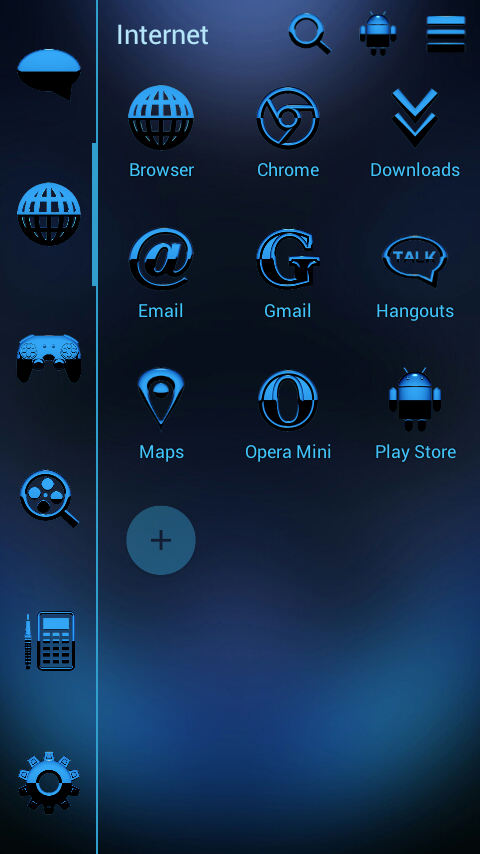 A-BLUE Smart Launcher Theme Screenshot 2