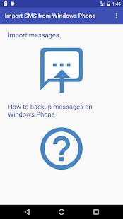 Import SMS from Windows Phone - náhled