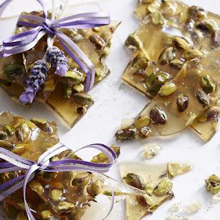 Honey, Lavender and Pistachio Praline.