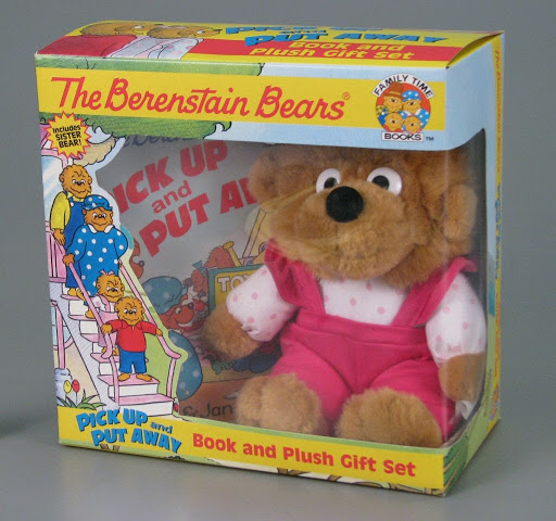 Stuffed animal | book | play set:The Berenstain Bears Pick Up and Put Away
