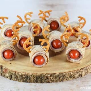Rudolf Reindeer Tortilla Roll-Ups.