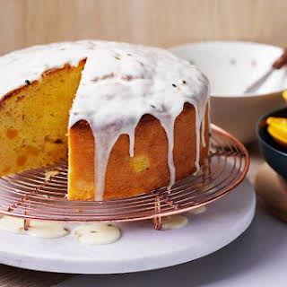 Matt Moran's mango and sour cream cake.