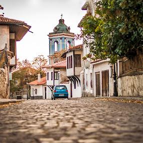 Karlovo-Bulgaria by Stoyan Katinov - City,  Street & Park  Street Scenes ( church, paved, road, karlovo, bulgaria )